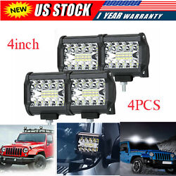 4 Inch 12v 1200w Led Work Light Bar Flood Pods Driving Off-road Tractor 4wd