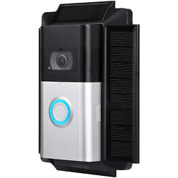 Wasserstein Solar Charger Mount For Ring Video Doorbell 3 3 Plus And 4 Only