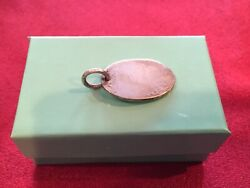 And Co Sterling Silver Oval Key Ring Tag Only Not Monogramed