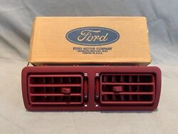 Nos Ford 87-93 Mustang Scarlet Red Center Dash Vent / Louvers / Register