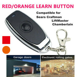 🚘new Security+ Garage Door Remotes For Sears Craftsman Mini Orange Learn Button