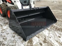 Bobcat 100 Snow Litter Bucket For Skid Steers And Track Loaders, Ssl Quick Attach