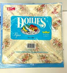 14 Sheets Of Doilies Royal Lace 10 In Square Paper Vintage