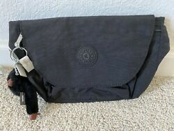 Nwt Kipling Arvin Travel Bag Waist Pack Pouch With Furry Monkey Black