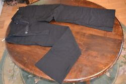 Editions Viscose 36andrdquo Long Trousers Uk Size 14 Black Fake Rear Pockets And 2 Fron 3