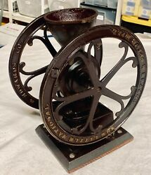 """Antique Woodruff And Edwards Co. Elgin National """"50"""" Coffee Grinder And Spice Mill"""