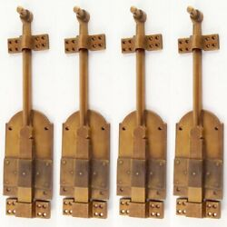 4 Heavy 12 Large Bolts French Old Style Doors Very Heavy Solid Brass Flush B