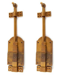 2 Heavy 12 Large Bolts French Old Style Doors Very Heavy Solid Brass Flush B