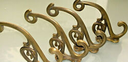 4 Hall Stand Coat Hooks Door Solid Brass Antiques Watson490a Old Style 5 Hookb