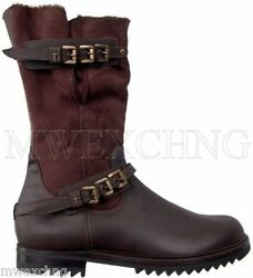 Cesare Paciotti Luxurious Shearling Boots Shoes Us 8 Italian Designer Mens Shoes
