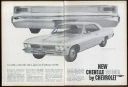1966 Chevrolet Chevelle Ss/396/bucket Seats/steering Wheel/console Car Ad Print