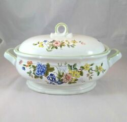 Mikasa Imari Bouquet 2 Quart Oval Covered Casserole Footed Vintage Serving Dish