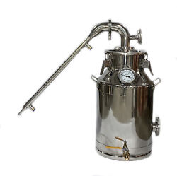 5 Gallon/20 Liter Milk Can Stainless Steel Still With 2 Simple Condenser