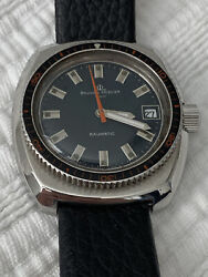 Vintage 70's Baume And Mercier Baumatic Skin Diver 200m Ss Automatic Ultra Rare