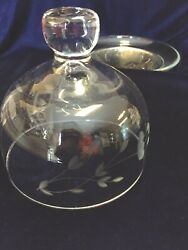 Princess House Heritage Crystal Dome Covered Butter Cheese Dish Cloche 461 Euc