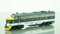 Athearn Genesis Fp7a Passenger Chesapeake And Ohio Dcc W/sound Ho Scale