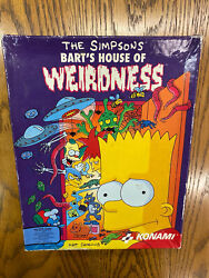 The Simpsons Bart's House Of Weirdness Ibm 5 1/4 Discs Rare Vintage Game 1991