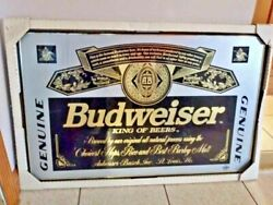 Antique Rare Budweiser Sign Wood Lacquer Breweriana Unique Vintage Collectibles
