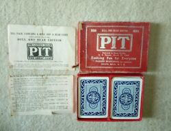 Pit Vintage Card Game Bull And Bear Edition