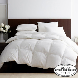 Legends Luxury Royal Baffled Light Warmth White Twin Goose Down Comforter