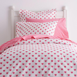 Sweetheart Hot Pink Cotton Percale Queen Duvet Cover