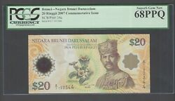 Brunei 20 Ringgit 2007 P34a Commemorative Issue Uncirculated Graded 68