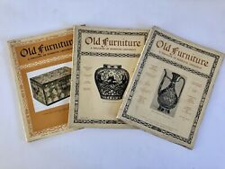 Old Furniture Magazine Lot Of 3 English Antiques 1927 - 1929 Book