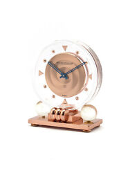 Jaegerlecoultre Little Nice Desk Clock 8 Days Acryl Case And Coppered Brass