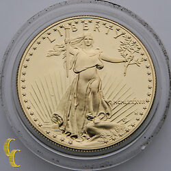 1987-w 1 Oz. American Eagle Proof In Mint Box And Velvet Case