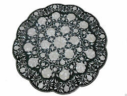 24 Marble Dining Table Top Inlay Rare Semi Round Center Coffee Table Ar0958