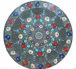 24 Marble Dining Table Top Inlay Rare Semi Round Center Coffee Table Ar0961
