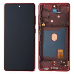 For Samsung Galaxy S20 Fe G780 Lcd Display Touch Screen+frame Best Oem Cloud Red