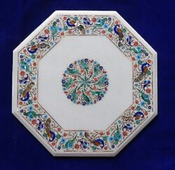 30 Marble Dining Table Top Inlay Rare Semi Antique Center Coffee Table Ar0975