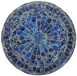 35 Marble Dining Table Top Inlay Rare Semi Round Center Coffee Table Ar0987
