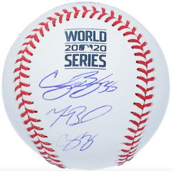 Cody Bellinger Corey Seager And Mookie Betts Los Angeles Dodgers Signed Baseball