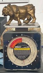 Solid Cast Metal Bull Figure Statue Over 2.25 Lbs Paper Weight Brahma Rodeo