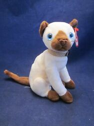 TY Beanie Babies Cat Siam Siamese VINTAGE NEW with TAG