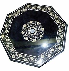 36 Marble Dining Table Top Inlay Rare Semi Antique Center Coffee Table Ar1057