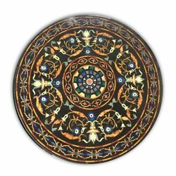 36 Marble Dining Table Top Inlay Rare Semi Round Center Coffee Table Ar1086