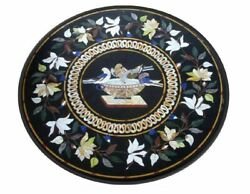 36 Marble Dining Table Top Inlay Rare Semi Round Center Coffee Table Ar1102