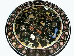 36 Marble Dining Table Top Inlay Rare Semi Round Center Coffee Table Ar1107