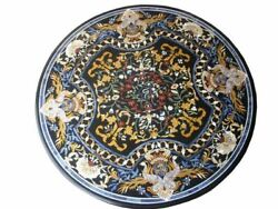 36 Marble Dining Table Top Inlay Rare Semi Round Center Coffee Table Ar1108