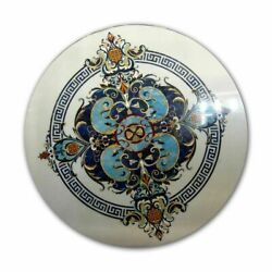 36 Marble Dining Table Top Inlay Rare Semi Round Center Coffee Table Ar1120