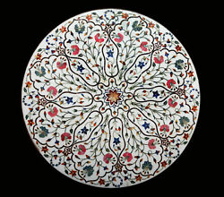 36 Marble Dining Table Top Inlay Rare Semi Round Center Coffee Table Ar1134