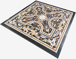 36 Marble Dining Table Top Inlay Rare Semi Antique Center Coffee Table Ar1147