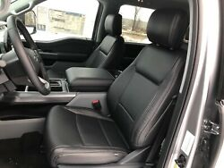 2021 Ford F-150 Xlt Super Crew Cab Katzkin Black Leather Replacement Seat Covers