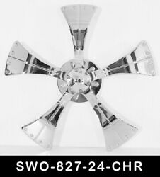 24 Inch Chrome Spinners Wheels Rims Fit Any Car Free S/h