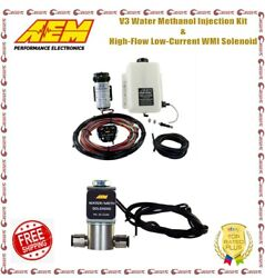 Aem V3 Water Methanol Injection Kit And High-flow Low-current Wmi Solenoid