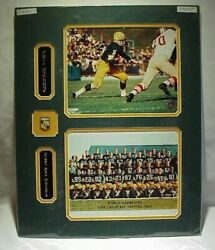 Green Bay Packers Paul Hornung Photos Nameplates And Pin Display Collage 16x20