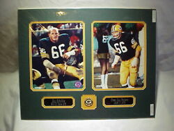 Green Bay Packers Ray Nitschke Photos, Name Plates And Pin Collage 16x20  B7